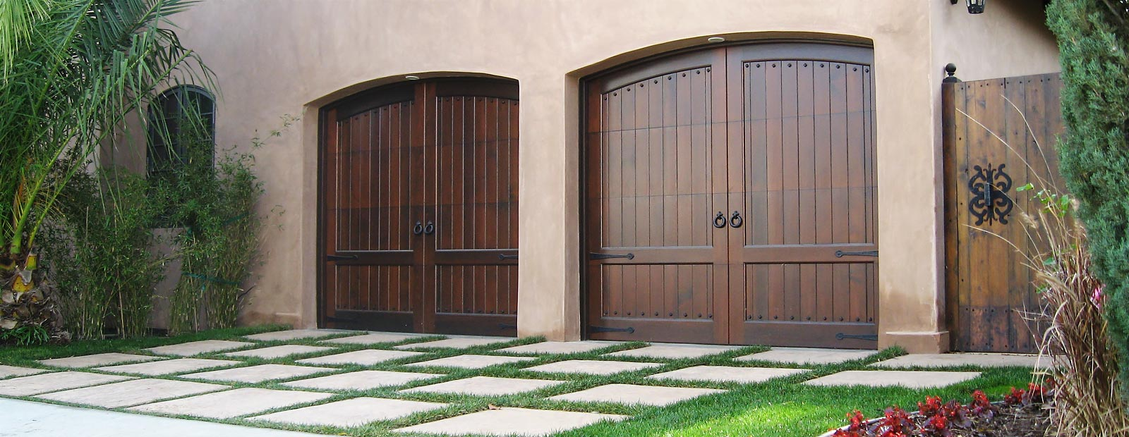 Custom Stained Garage Doors California