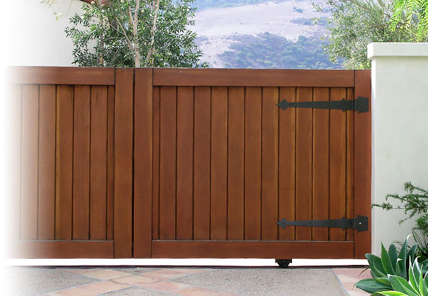 stained wood garage doors