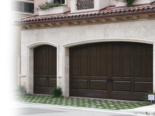 Raised Panel Wooden Garage Doors Southern California